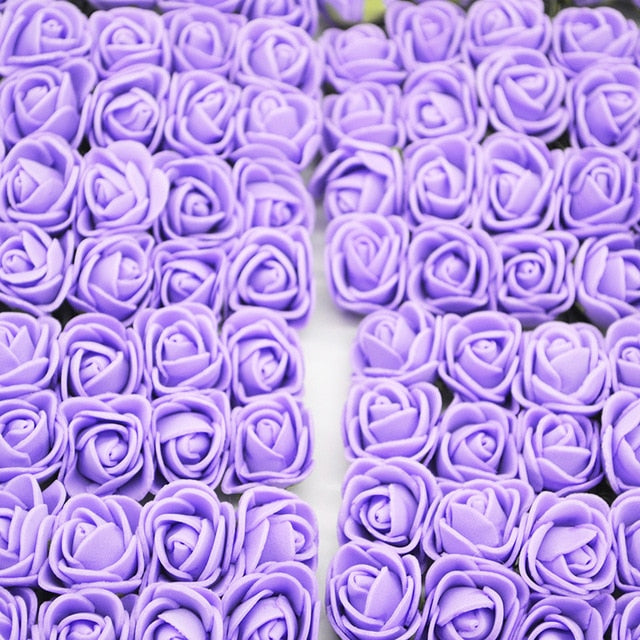 Crafts for home with artificial purple roses