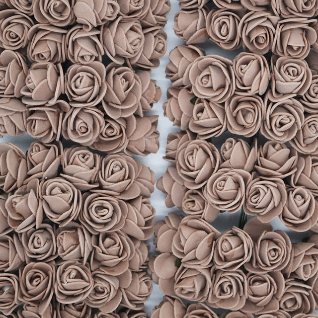 Grey artificial roses to make 5 minute crafts gifts
