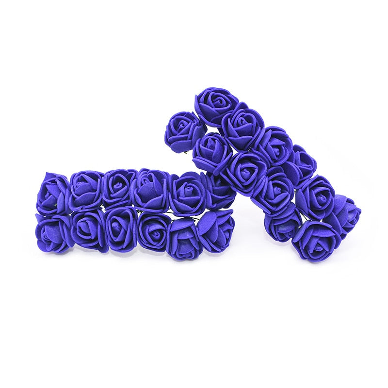 Crafts easy with artificial blues roses