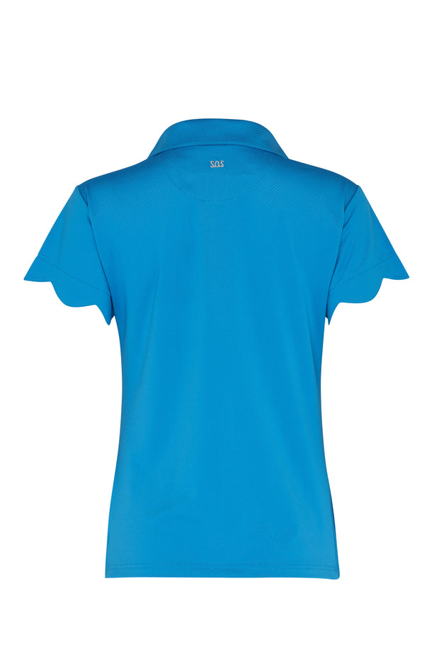 Bondi Cap Sleeve Shirt | Royal Blue