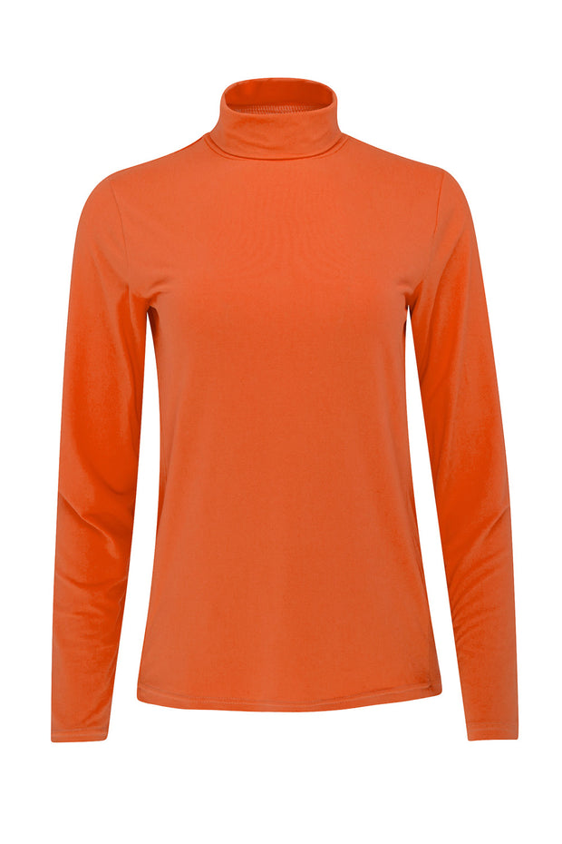 Cassie Roll Neck | Living Coral