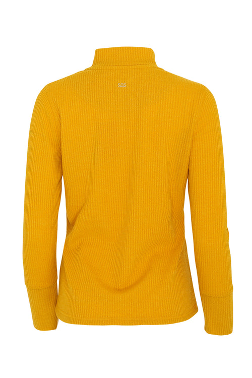 Evelyn 1/4 Zip Turtle Neck | Mellow Gold