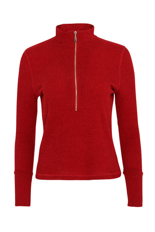 Evelyn 1/4 Zip Turtle Neck | Iron Gate