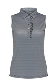 Fiji Stripe Sleeveless Polo