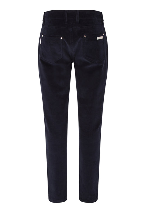 Katya Cord Stretch Trouser | Navy