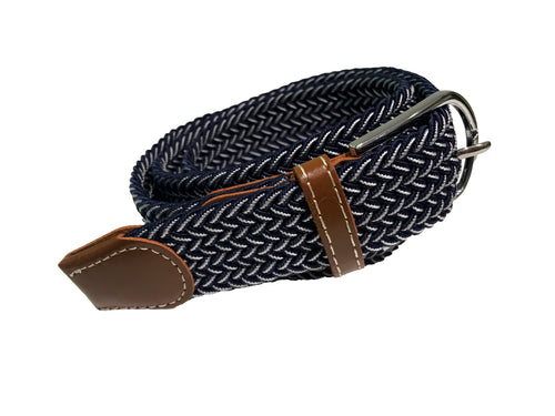 Stretch Belt | Navy & White