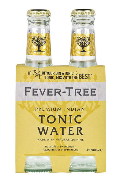 Fever Tree Indian Tonic Water 200ml 4-Pack