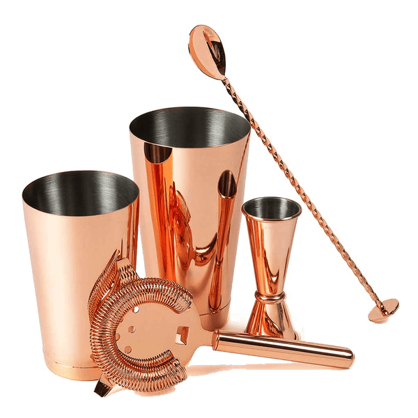 Urban Bar Copper 5 Piece Cocktail Set