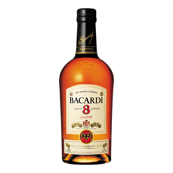 Bacardi 8 Anos Rum 700ml - Boozy.ph