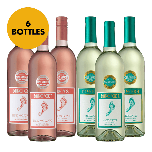 Barefoot Moscato and Pink Moscato 750ml Bundle of 6