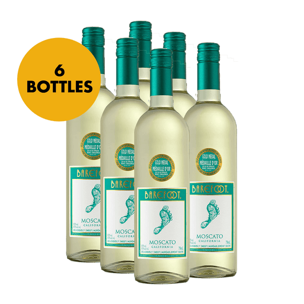 Barefoot Moscato 750ml Bundle of 6 Bottles - Boozy.ph