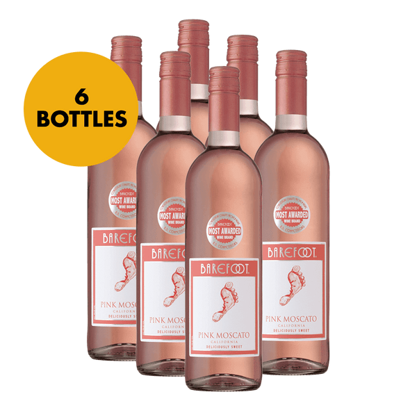 Barefoot Pink Moscato 750ml Bundle of 6 Bottles - Boozy.ph