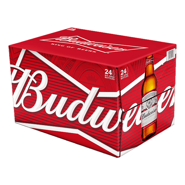 Budweiser 330ml Case (24 Bottles) - Boozy.ph