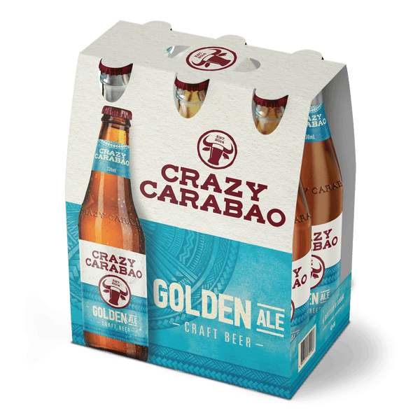 Crazy Carabao Golden Ale 330ml Bottle 6-Pack