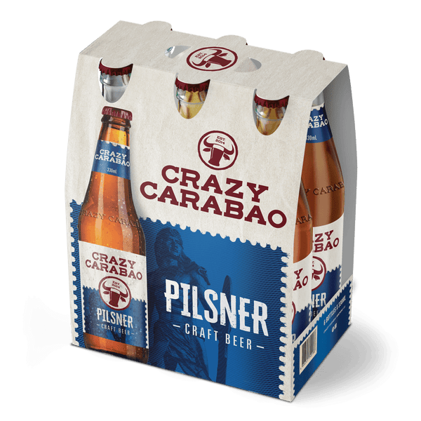 Crazy Carabao Pilsner 330ml Bottle 6-Pack