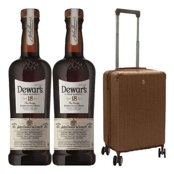 2 Dewar's 18yo + 1 FREE Trolley bag