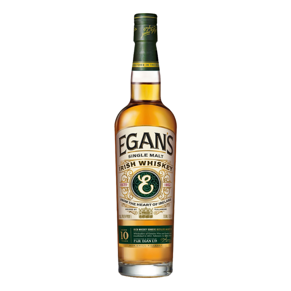 Egan's Single Malt 10YO Irish Whiskey 700ml - Boozy.ph