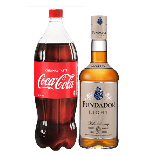 Fundador Light + Coca Cola 1.5L