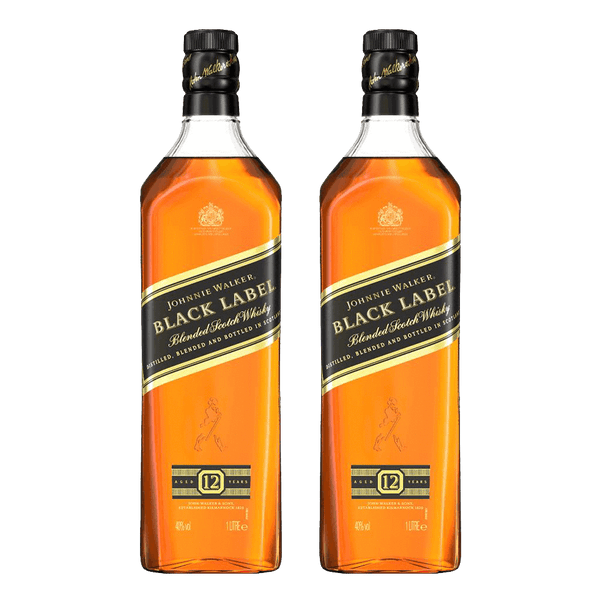 Johnnie Walker Black Label 1L Bundle of 2