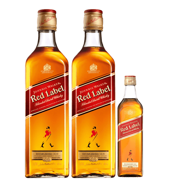 2 Johnnie Walker Red Label 1L + 1 FREE Red Label 200ml