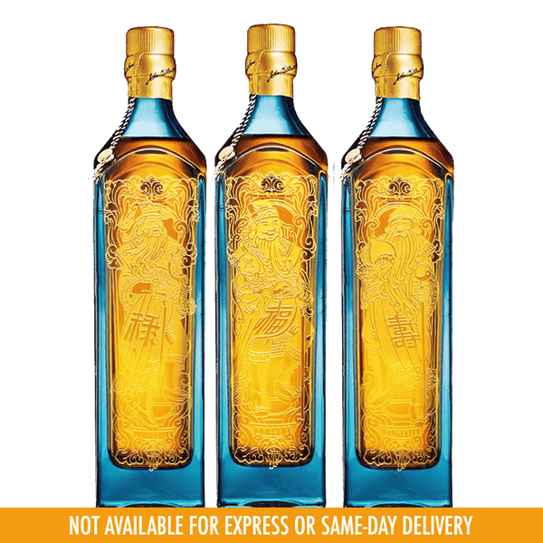 Johnnie Walker Blue Label Three Gods of Wealth 1L Set of 3