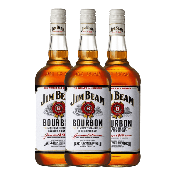 Jim Beam White 750ml Bundle of 3
