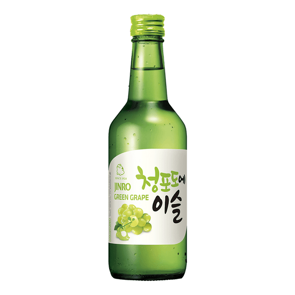 Jinro Chamisul Soju Green Grape 360ml bottle - Boozy.ph