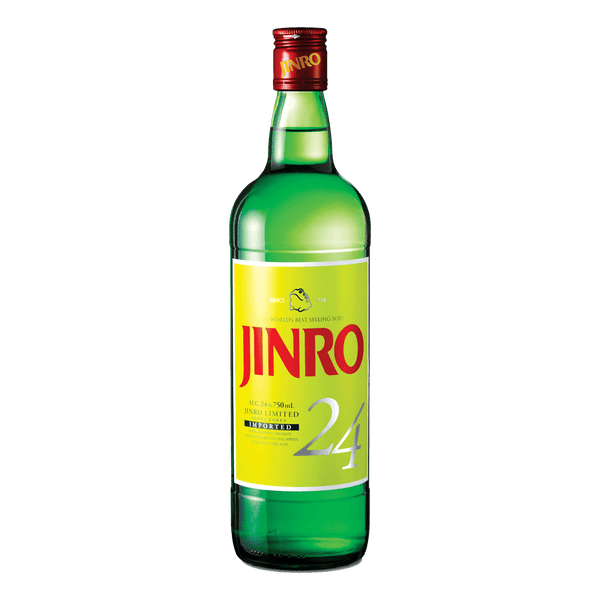 Jinro 24 Soju 750ml - Boozy.ph