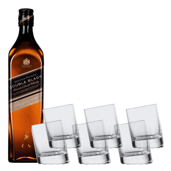 Johnnie Walker Double Black 1L + Schott Zwiesel Cocktail Glass Bundle
