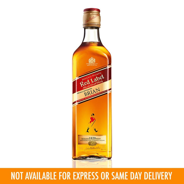 Johnnie Walker Red Label 700ml Labeling
