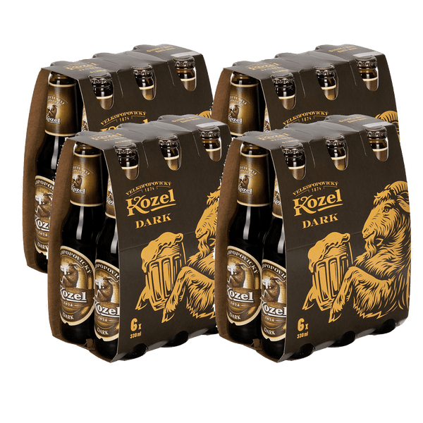 Kozel Dark 330ml 6-pack Bundle of 4 (24 bottles)