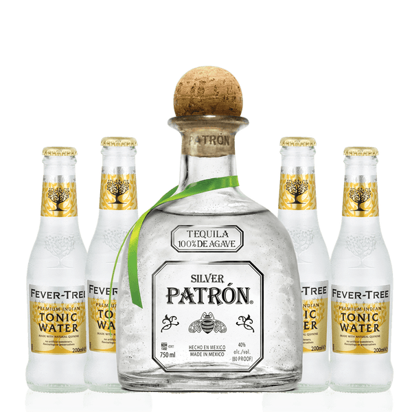 1 Patron Silver 750ml + 4 Free Fever Tree Indian Tonic Water 200ml