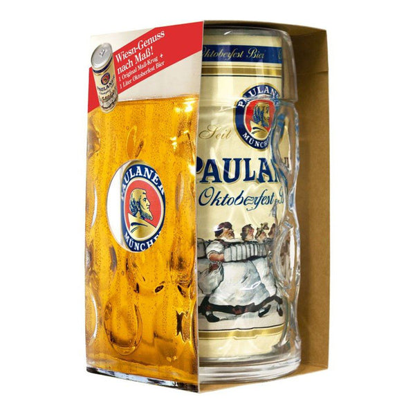 Paulaner To-Go 1L Promo Pack with Mug German Beer