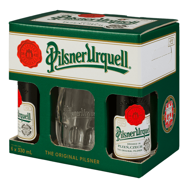 Pilsner Urquell 330ml Bottle 6 Pack
