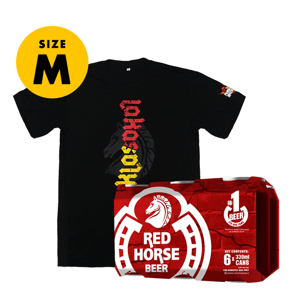 Red Horse Beer 330 mL Can 6-Pack + FREE Shirt Size Medium