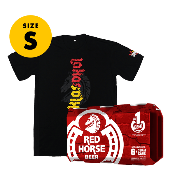 Red Horse Beer 330 mL Can 6-Pack + FREE Shirt Size Small