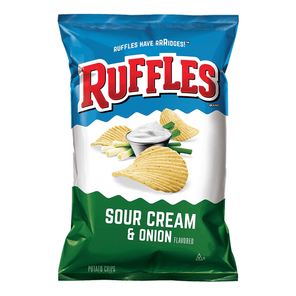 Ruffles Sour Cream & Onion 6.5oz - Boozy.ph
