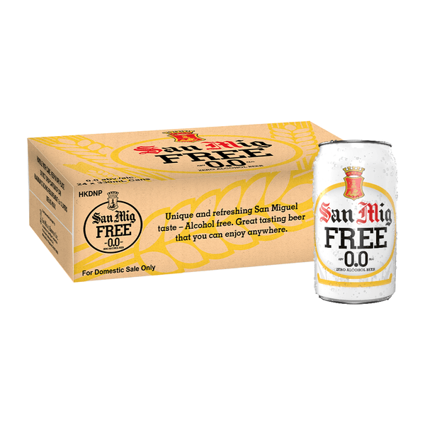 San Mig Free 0.0 330 mL Can Case of 24
