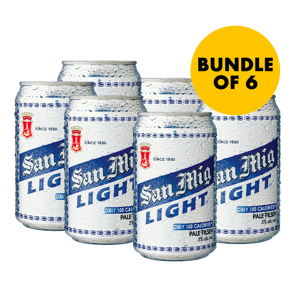 San Mig Light 330 mL Can 6-Pack