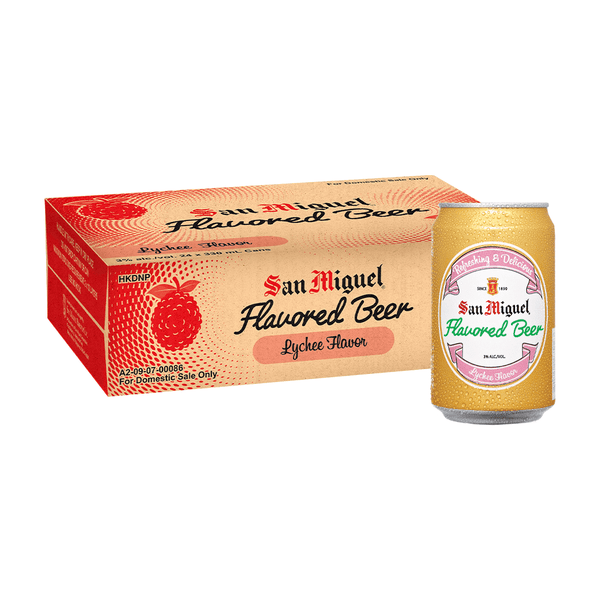 San Miguel Flavored Beer Lychee 330 mL Can Case of 24
