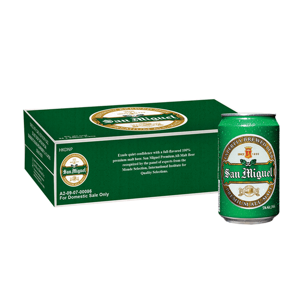 San Miguel Premium All-Malt 330 mL Can Case of 24