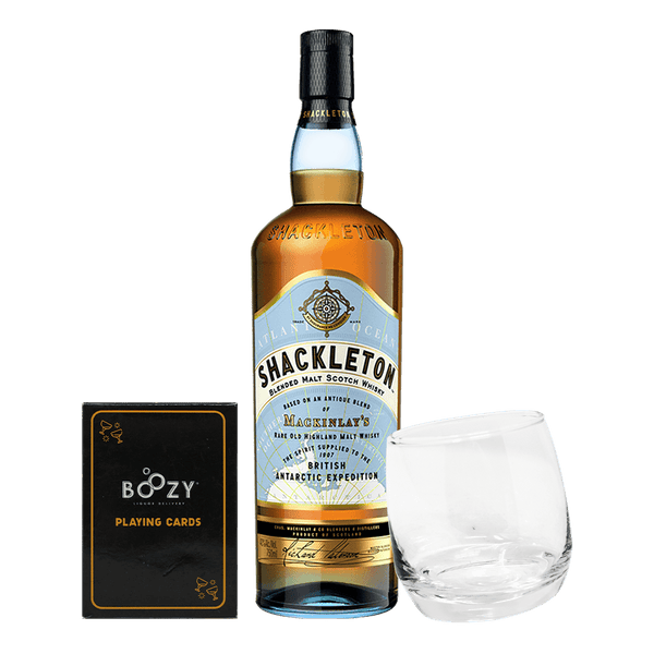Shackleton 700ml Cards and Glass Bundle