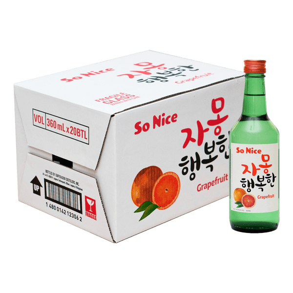 So Nice Grapefruit 360ml Case of 20