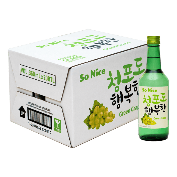 So Nice Green Grape 360ml Case of 20