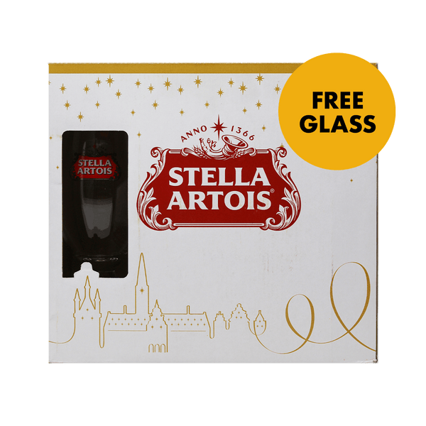 Stella Artois 330ml Bottle 6-pack with Free Glass - Boozy.ph