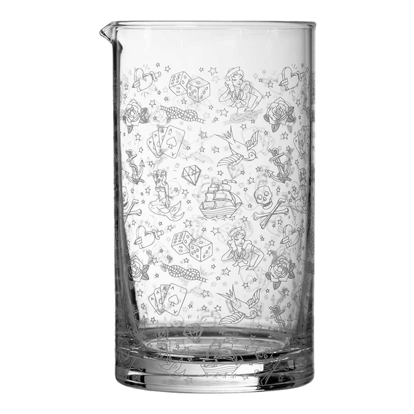 Urban Bar Tattoo Mixing Glass