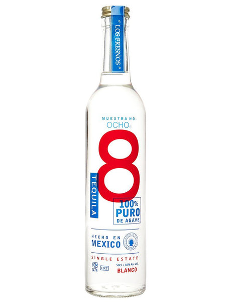 Ocho Tequila Blanco 100% Agave 500ml - Boozy.ph