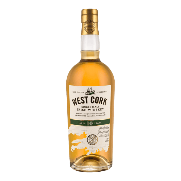 West Cork Single Malt 10YO Irish Whiskey 700ml - Boozy.ph