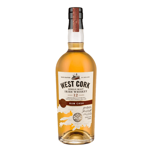 West Cork Single Malt 12YO Rum Cask Finish 700ml - Boozy.ph