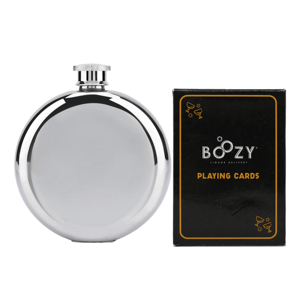 Boozy Cards and Flask Bundle